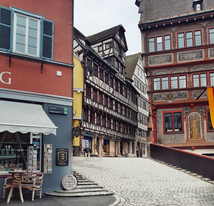 Exploring the old town of Tübingen, Germany